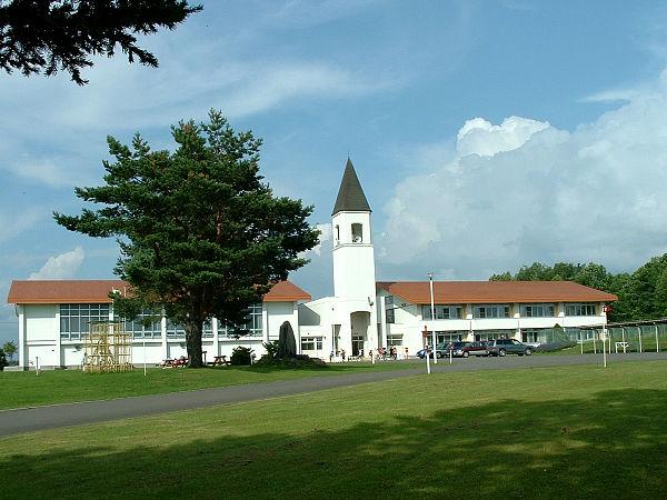 北海道風景写真画像 美瑛 美馬牛小学校