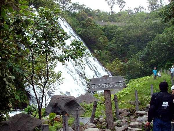 北海道風景写真画像 知床 オシンコシンの滝