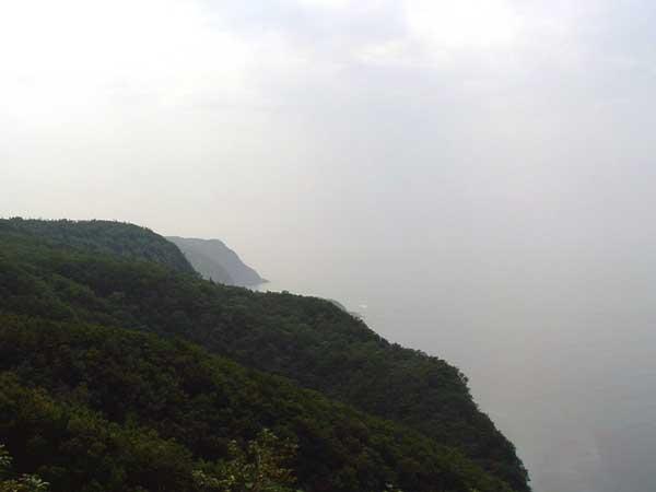 北海道風景写真画像 知床 カムイワッカ展望台