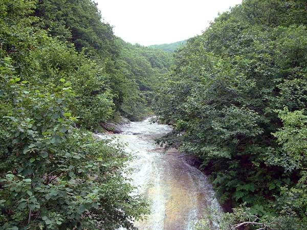 北海道風景写真画像 知床 カムイワッカの滝