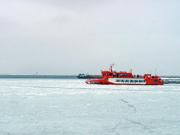 北海道風景写真画像 紋別市の流氷砕氷船ガリンゴ号�U1