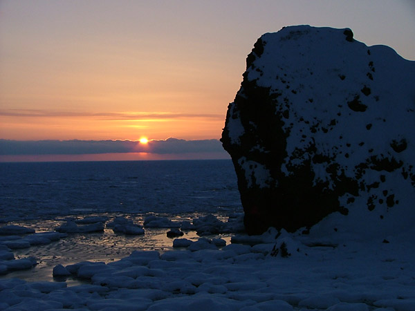 北海道風景写真画像 知床沿岸の流氷2