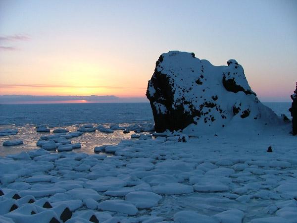 北海道風景写真画像 知床沿岸の流氷3